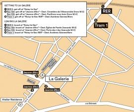 La Galerie acces map UK